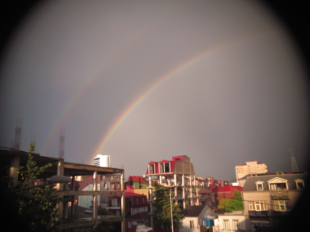 Double Rainbow over Batumi. That means it is twice as good, right? Yes.